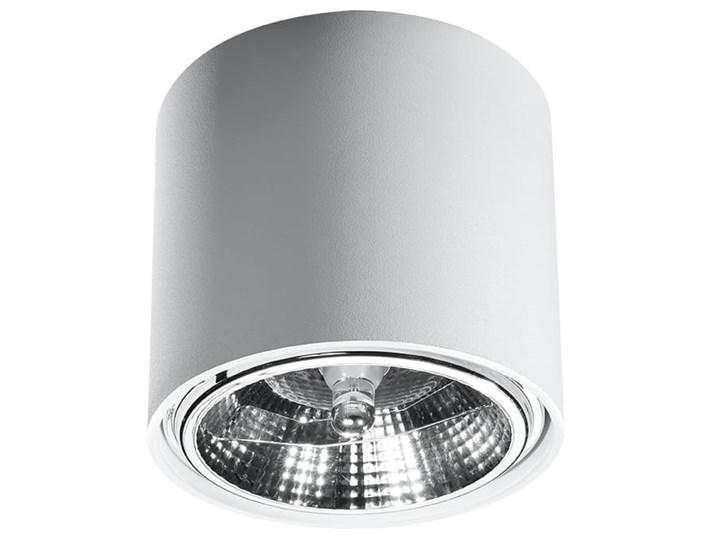 Nowoczesny Plafon TIUBE biały Lampa aluminium okrągła na sufit Idealna do salonu,  sypialni, korytarza Oprawa sufitowa żarówka GU10 Oświetlenie SOLLUX Oprawa stropowa Okrągłe Oprawa led Kategoria Oprawy oświetleniowe