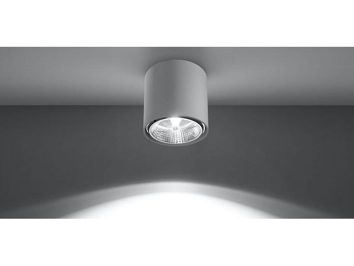 Nowoczesny Plafon TIUBE biały Lampa aluminium okrągła na sufit Idealna do salonu,  sypialni, korytarza Oprawa sufitowa żarówka GU10 Oświetlenie SOLLUX Okrągłe Oprawa led Oprawa stropowa Kategoria Oprawy oświetleniowe