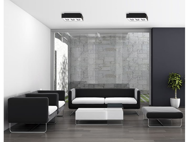 Sollux Lampa Plafon MONO 3 czarny SL.0072 Oprawa Sufitowa Stal Minimalistyczne Oświetlenie Loft Prostokątne Oprawa halogenowa Oprawa stropowa Kategoria Oprawy oświetleniowe