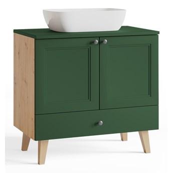 Szafka pod umywalkę VENEZIA VN03 artisan / zielony mat