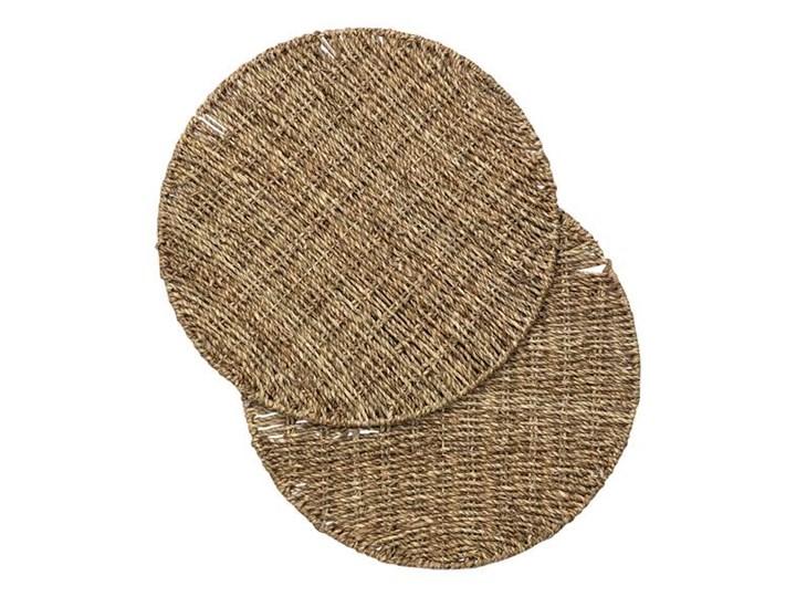 Podkładka na stół z trawy morskiej 2 Pack Podkładka pod talerz Kategoria Podkładki kuchenne Kolor Brązowy