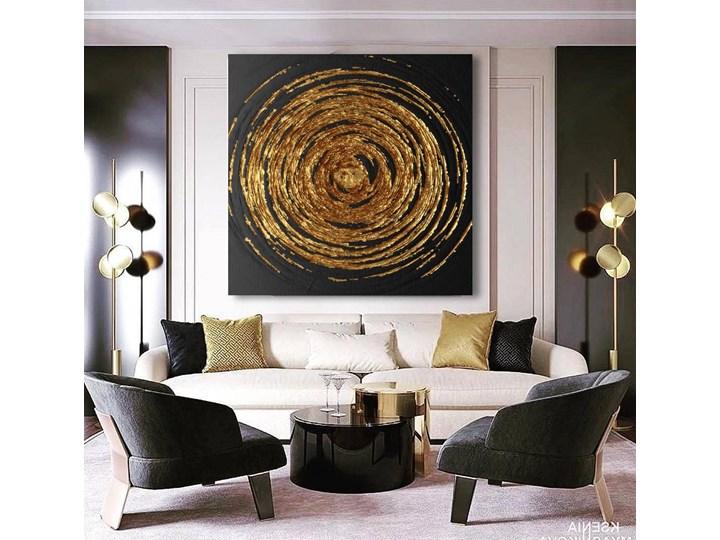 DEEP - Wielkoformatowy obraz na płótnie abstrakcyjny art&texture™ 100x100 Pomieszczenie Przedpokój