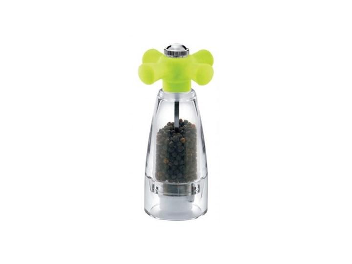 Pieprzniczka z zielonym pokrętłem Giannini Kategoria Przyprawniki Solniczka i pieprzniczka Ceramika Kolor Przezroczysty