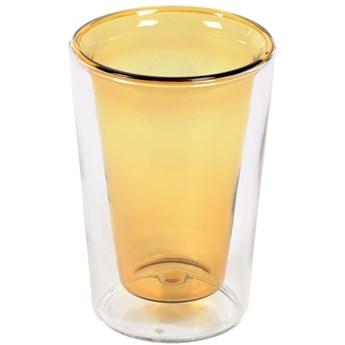 Szklanka Aryas Ø9x13 cm transparentna - żółta