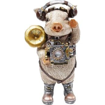 Figurka dekoracyjna Pig Musician 11x13 cm kolorowa