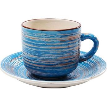 Filiżanka 250 ml ze spodkiem Ø15 cm Swirl niebieska