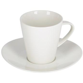 Filizanka do kawy i spodek Pierina porcelonowa biala duza