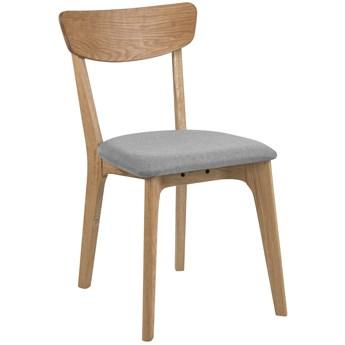 Krzesło Faye 45x84 cm drewniane siedzisko jasnoszare