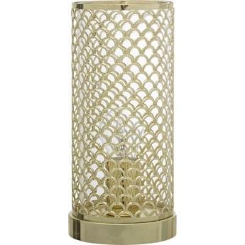 Lampa stołowa Net 13x28 cm złota