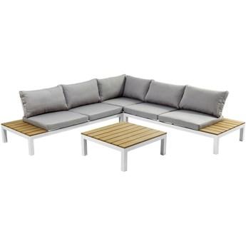 Sofa ogrodowa ze stolikiem Holiday White 246x246 cm