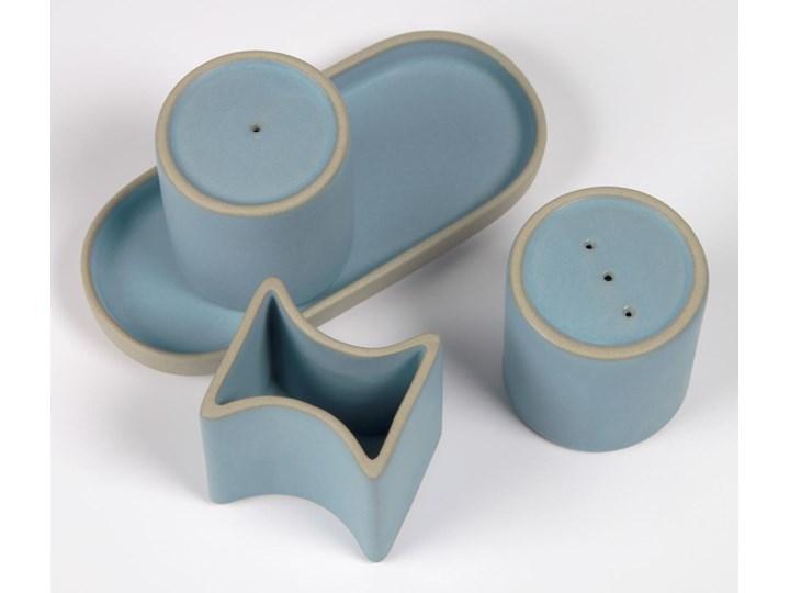 Solniczka i pieprzniczka Midori niebieskie Ceramika Zestaw do przypraw Kategoria Przyprawniki