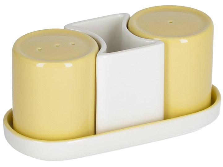 Solniczka i pieprzniczka Midori żółte Zestaw do przypraw Kategoria Przyprawniki Ceramika Kolor Żółty