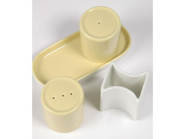 Solniczka i pieprzniczka Midori żółte Ceramika Zestaw do przypraw Kategoria Przyprawniki