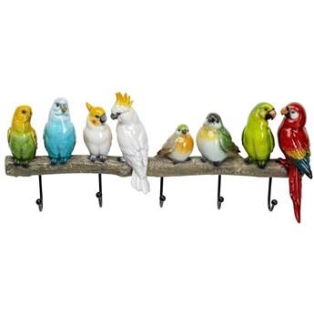 Wieszak ścienny Exotic Birds 39x31 cm kolorowy