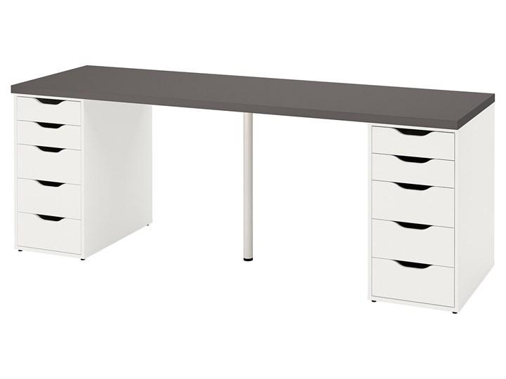 IKEA LAGKAPTEN / ALEX Biurko, Ciemnoszary/biały, 200x60 cm Płyta MDF Stal Biurko tradycyjne Szerokość 200 cm Pomieszczenie Pokój nastolatka