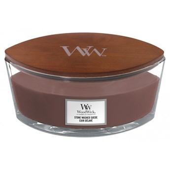 Świeczka elipsa WoodWick Stone Washed Suede Elipsa 453,6g