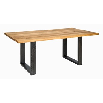 Stół Drewniany, Dębowy Ferrum Nero / Bianco