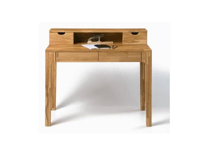 Biurko / Toaletka dębowa Adel 2 z nadstawką - Olej naturalny. Drewno Kategoria Biurka Biurko z nadstawką Kolor Brązowy
