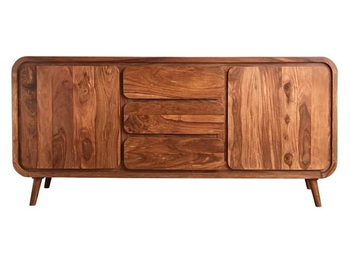 Kredens HENIO (Bursztyn) Z szafkami i szufladami Drewno Pomieszczenie Salon