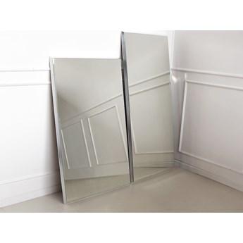 Nowoczesne fazowane lustro w srebrnej ramie 80 x 180 cm 12F-390