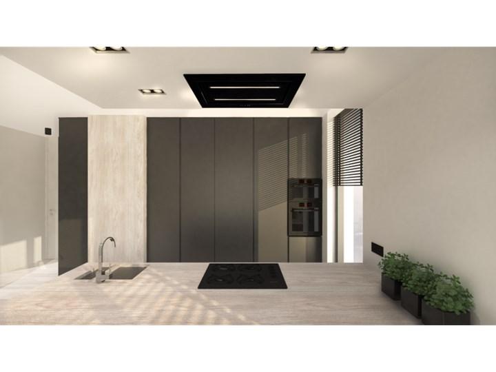 Okap sufitowy Grand Super Slim Black 96 cm Sterowanie Elektroniczne