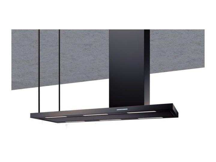 Okap wyspowy Metropolis Black Matt 116 cm Szerokość 146 cm Kategoria Okapy