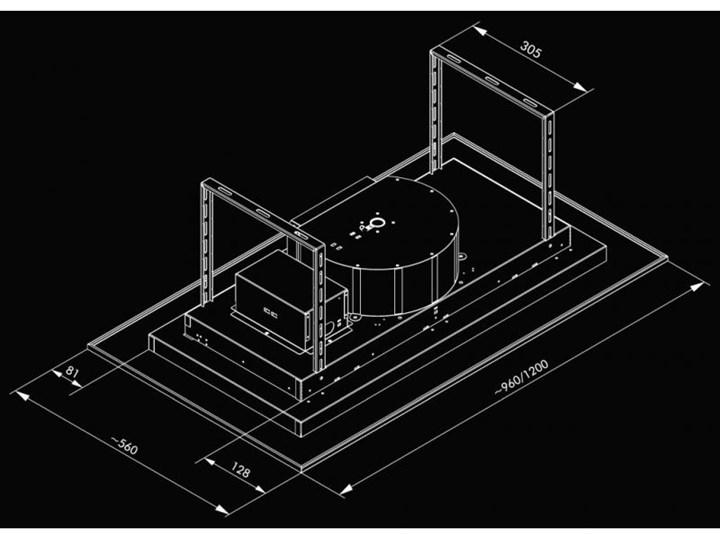 Okap sufitowy Grand Super Slim White 120 cm Szerokość 96 cm Sterowanie Elektroniczne Kategoria Okapy