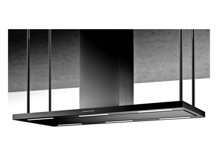 Okap wyspowy Centropolis Black 146 cm Kategoria Okapy