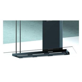 Okap wyspowy Metropolis Glass Black 146 cm