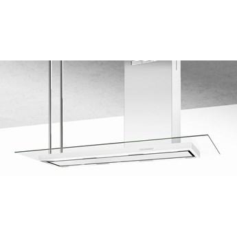 Okap wyspowy Metropolis Glass White 146 cm