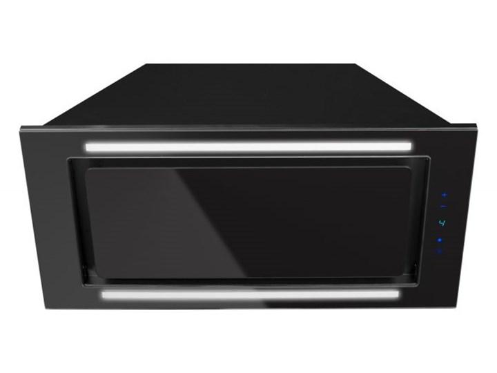 Okap podszafkowy Lando Glass 2STRIPS Black 86,4 cm Okap do zabudowy Sterowanie Elektroniczne