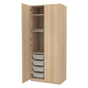 IKEA PAX / FORSAND Kombinacja szafy, dąb bejcowany na biało, 100x60x236 cm