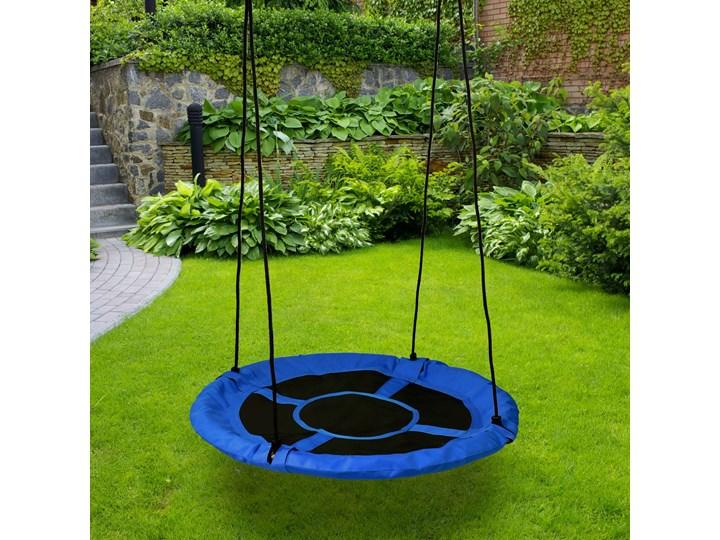 Huśtawka ogrodowa bocianie gniazdo ROMEK niebieska 60cm Metal Pianka Kategoria Huśtawki dla dzieci