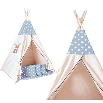 Namiot Tipi dla dzieci niebieski w gwiazdki