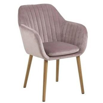 Różowe krzesło welurowe - Tristo 5X