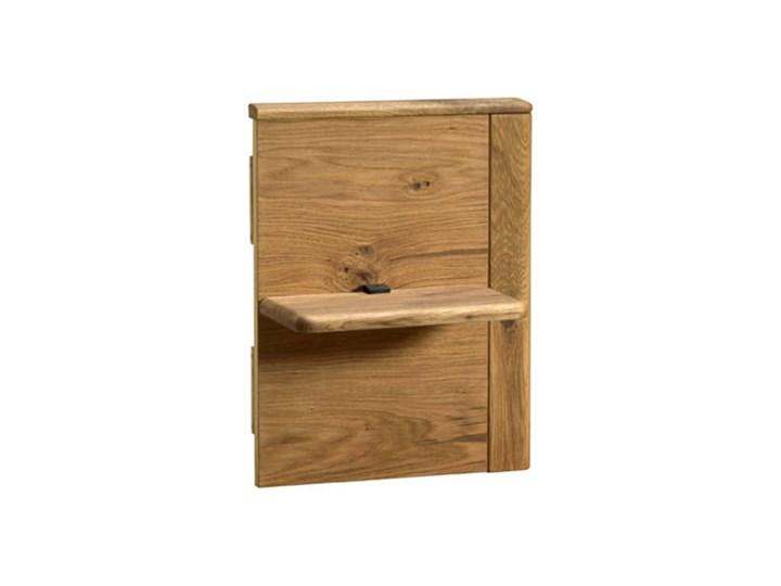 Łóżko dębowe Orio z zagłówkiem i  stelażem Soolido Meble Kategoria Łóżka do sypialni Łóżko drewniane Kolor Czarny
