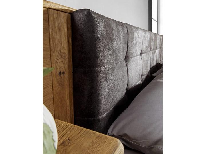 Łóżko dębowe Orio z zagłówkiem i  stelażem Soolido Meble Łóżko drewniane Kolor Czarny