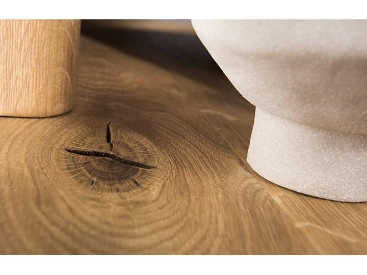 Łóżko dębowe Orio z zagłówkiem i  stelażem Soolido Meble Kolor Czarny Łóżko drewniane Kategoria Łóżka do sypialni