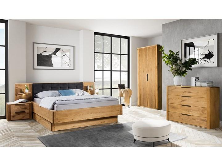 Łóżko dębowe Orio z zagłówkiem i  stelażem Soolido Meble Łóżko drewniane Kategoria Łóżka do sypialni Kolor Czarny