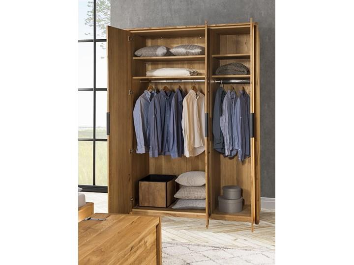 Szafa 3d dębowa Orio do sypialni Soolido Meble Drewno Rodzaj frontów Z lustrem
