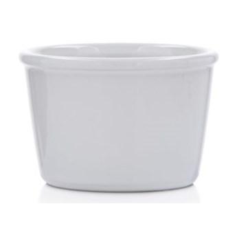Kokilka okrągła ramekin DUKA GRESTEL 9 cm biała ceramika