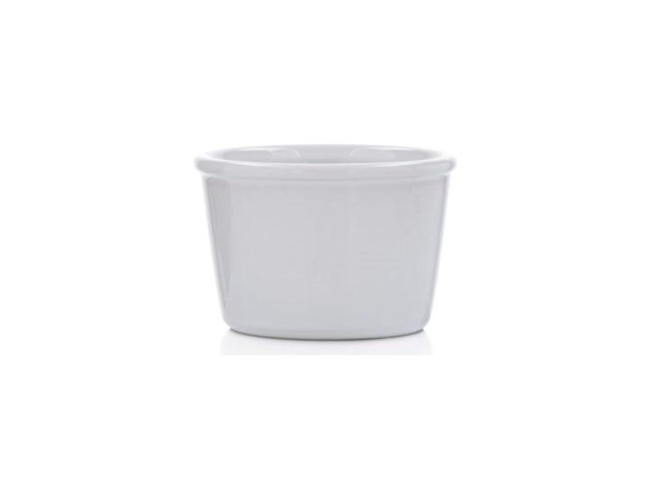 Kokilka okrągła ramekin DUKA GRESTEL 9 cm biała ceramika Kolor Biały