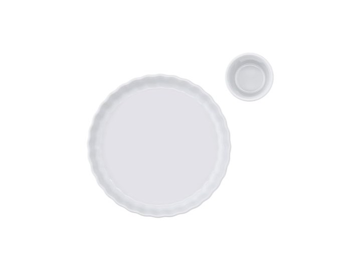 Kokilka okrągła ramekin DUKA GRESTEL 9 cm biała ceramika Kolor Biały Kategoria Naczynia do zapiekania