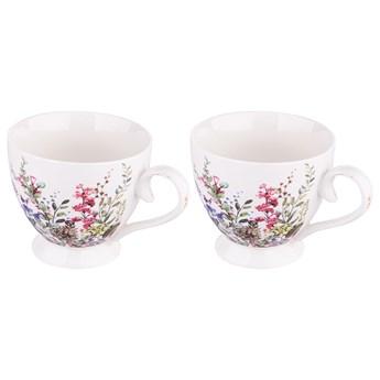 Duża filiżanka do kawy i herbaty porcelanowa na stopce Altom Design Floral 350 ml, zestaw 2 filiżanek (opakowanie prezentowe)