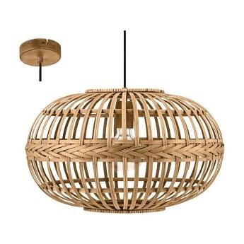 49771 AMSFIELD lampa wisząca stal brązowy / drewno brązowy EGLO VINTAGE LOFT