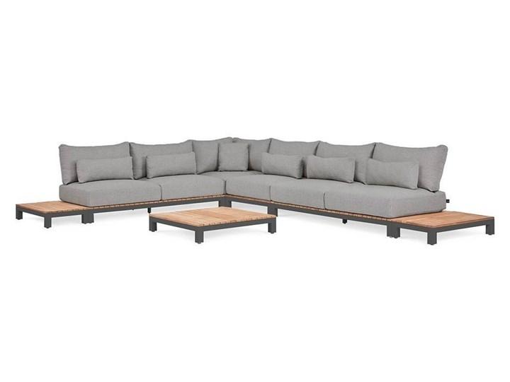 Zestaw wypoczynkowy tarasowy EVORA III anracyt Kolor Szary Zestawy wypoczynkowe Drewno Aluminium Kategoria Zestawy mebli ogrodowych