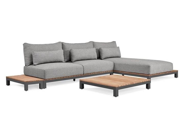 Zestaw wypoczynkowy na taras EVORA I antracyt Kolor Szary Zestawy wypoczynkowe Drewno Aluminium Kategoria Zestawy mebli ogrodowych