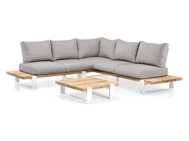 Zestaw wypoczynkowy na taras NARDO I biały Kategoria Zestawy mebli ogrodowych Zestawy wypoczynkowe Aluminium Drewno Kolor Czarny