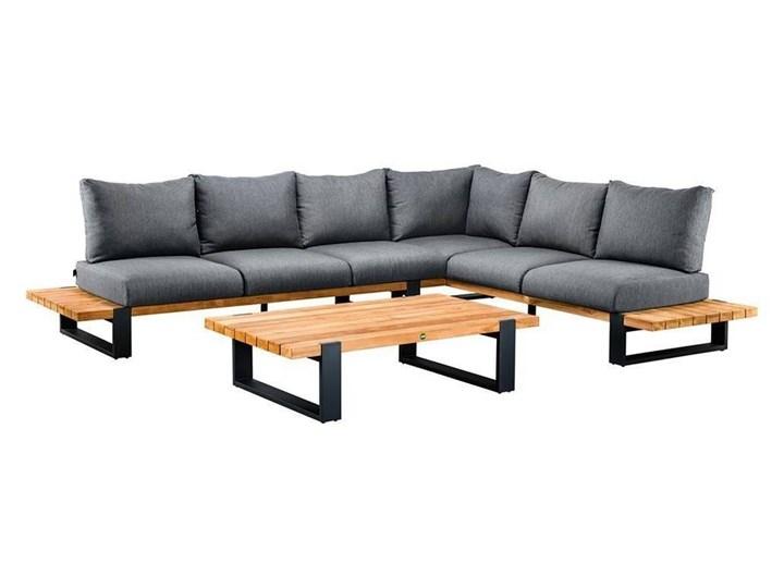 Zestaw wypoczynkowy do ogrodu NARDO II antracyt Drewno Aluminium Zestawy wypoczynkowe Kolor Czarny