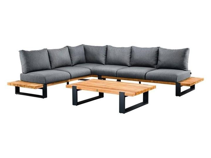 Zestaw wypoczynkowy do ogrodu NARDO II antracyt Zestawy wypoczynkowe Kategoria Zestawy mebli ogrodowych Drewno Aluminium Kolor Czarny